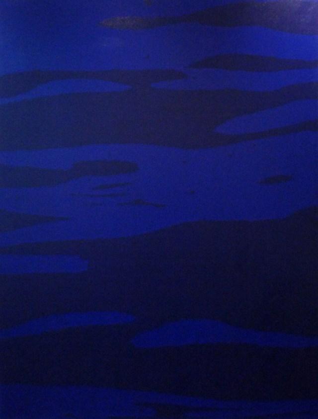 Juan José Cambre, Azul ultramar, acrílico sobre tela, 215 x 263 cm