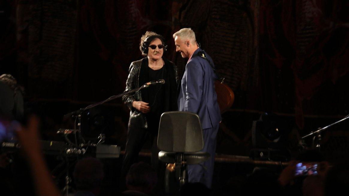 Charly García junto a Pedro Aznar en el Teatro Colón (Christian Bochichio)