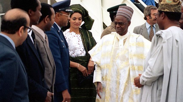 Shehu Shagari, presidente derrocado por Buhari en 1983