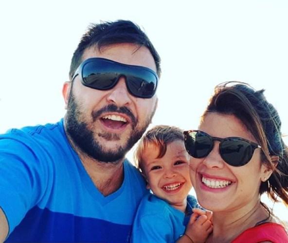 Diego Brancatelli junto a Cecilia y Valentín