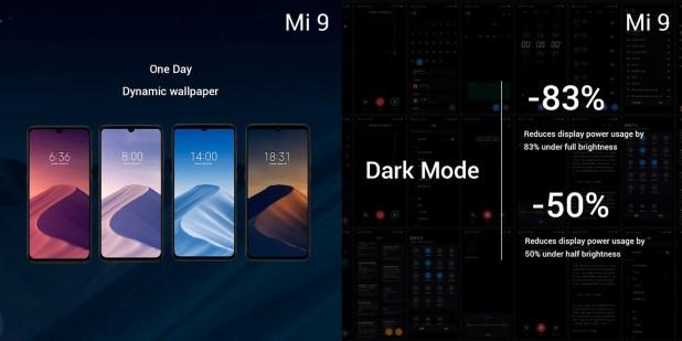 el firmware de Xiaomi, el MIUI, incluye el tema oscuro que disminuye el consumo energético.