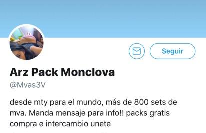 """La cuenta de Twitter todavía activa que ofrece """"packs"""" de jóvenes en Monclova. (Foto: Especial)"""