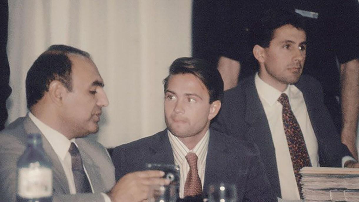 En en centro, el subteniente Ignacio Canevaro, condenado a 15 años de prisión (CEDOC)