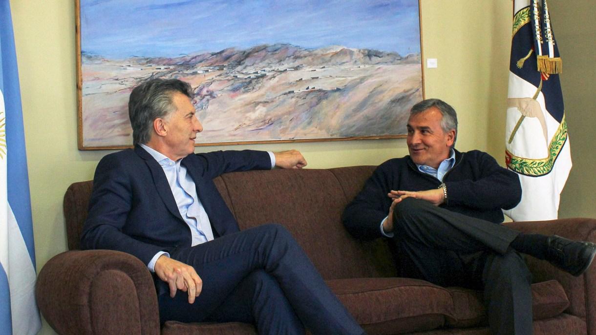 El gobernador junto a Mauricio Macri