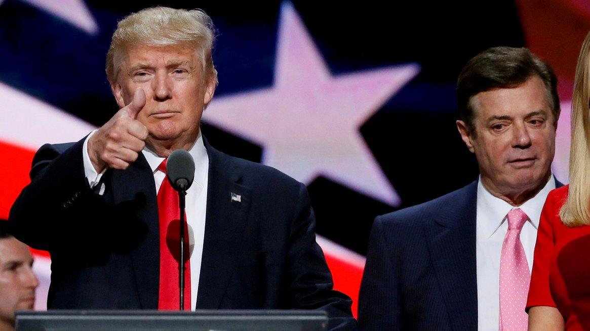Donald Trump juanto a Paul Manafort (Reuters)