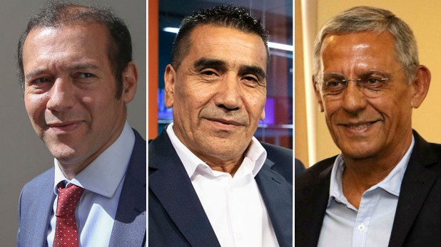 """Omar Gutiérrez, Ramón Rioseco y Horacio """"Pechi"""" Quiroga"""