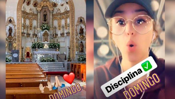 En la mañana fue a la iglesia y luego al gimnasio (Foto: Instagram iamyanetgarcia)