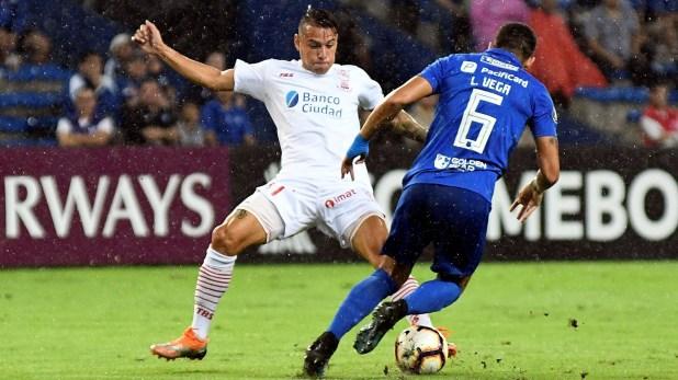 En su visita a Ecuador, Huracán igualó son goles frente a Emelec (EFE)