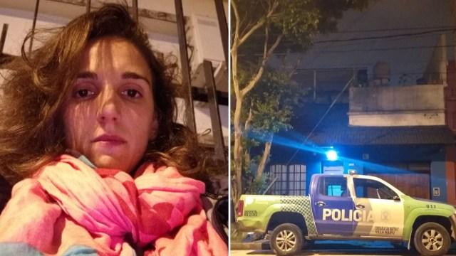 La joven, su pareja y su beba tuvieron que dormir dentro de una camioneta