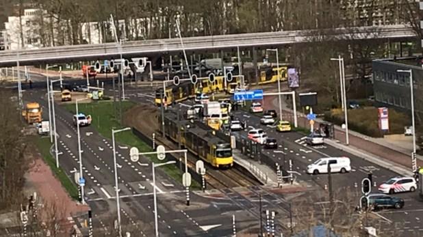 La Plaza 24 de octubre, un importante nodo de transporte en Utrecht (AP)