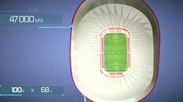El recinto tendría capacidad para 70.000 espectadores.