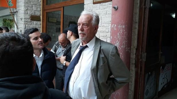 El abogado de Carlos Stornelli, Roberto Ribas, esta mañana en Dolores (Foto: Ezequiel Acuña)