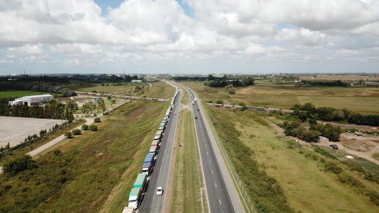 Los camiones de soja eran un total de 2.098.