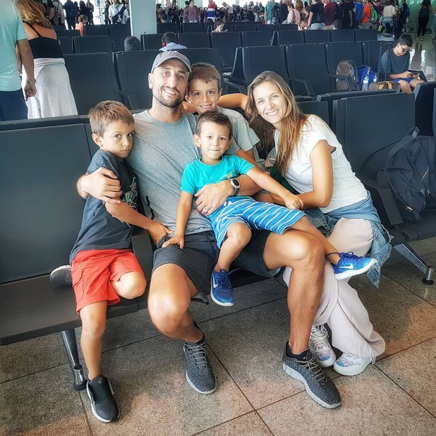 La familia Ginóbili en una de sus vacaciones.