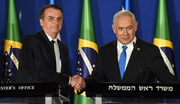 Jair Bolsonaro junto a Benjamin Netanyahu durante su visita a Israel (REUTERS)