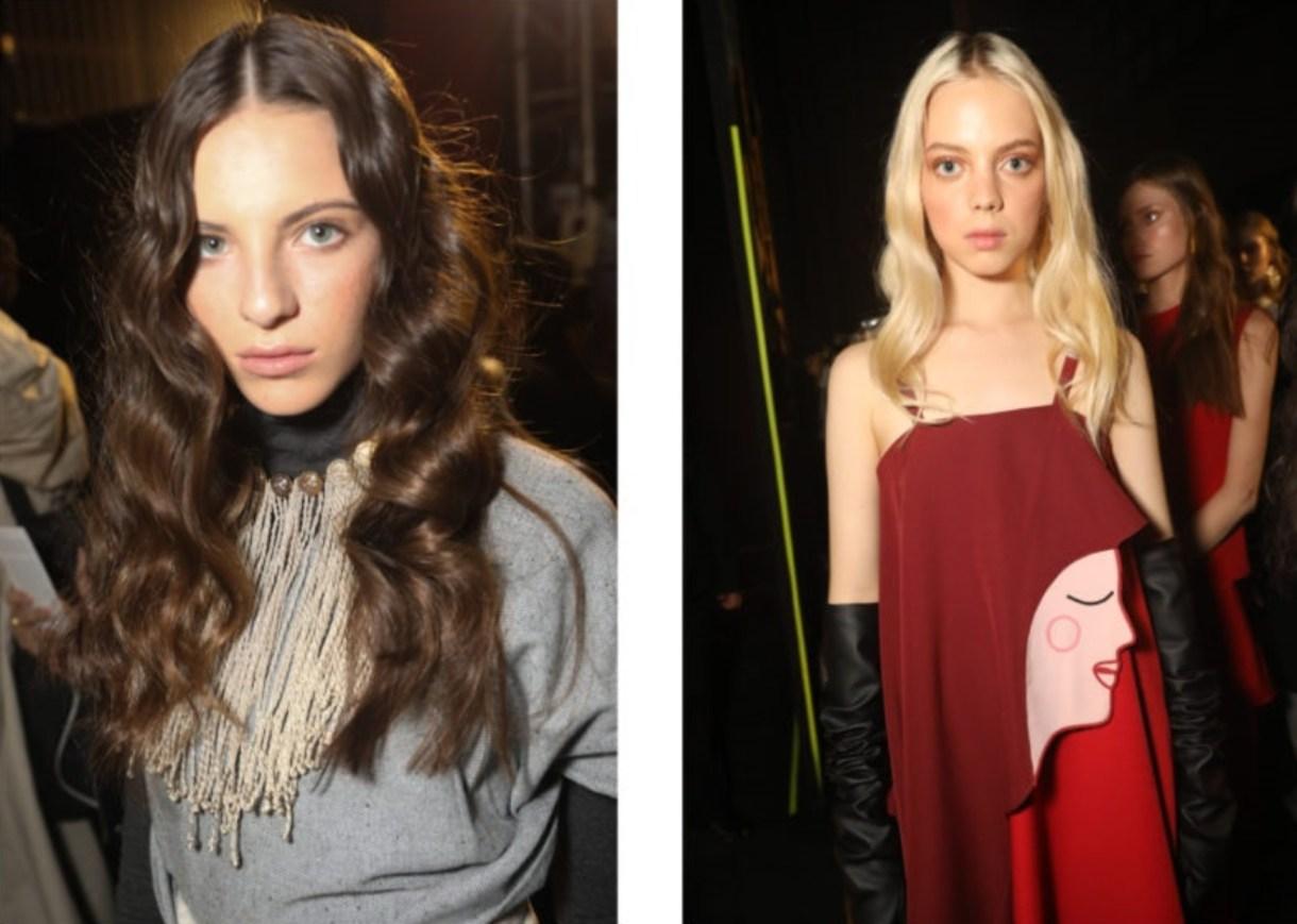 Alexia Ulibarri mostró en su colación estampados con forma de caras humanas, tanto en vestidos como en abrigos (Foto: FashionWeek.mx)