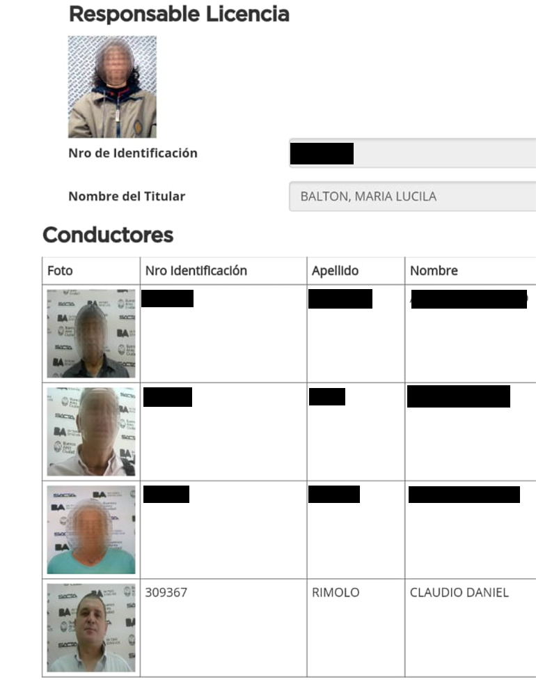 María Lucila Balton, dueña del vehículo, denunció a su chofer