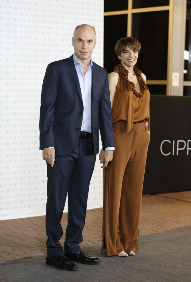 El jefe de Gobierno porteño. Horacio Rodrìguez Larreta, y su mujer Bárbara Diez