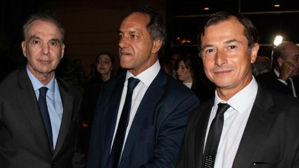 El senadorMiguel Angel Pichetto y los diputados Daniel Scioli y Daniel Lipovetzky