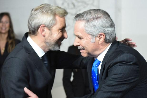 Rogelio Frigerio y Felipe Solá