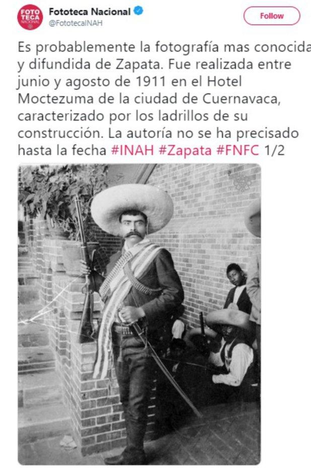 La fotografía más famosa de Zapata