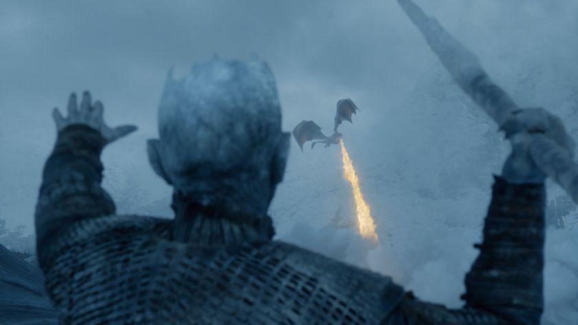 La muerte de Viserion (Foto: HBO)