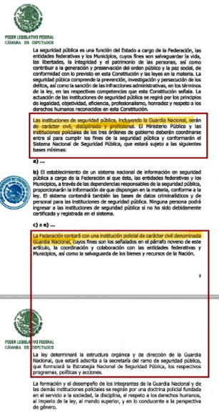 Se modificó el párrafo que especificaba la Guardia Nacional (Foto: Twitter/AlfredoLecona)