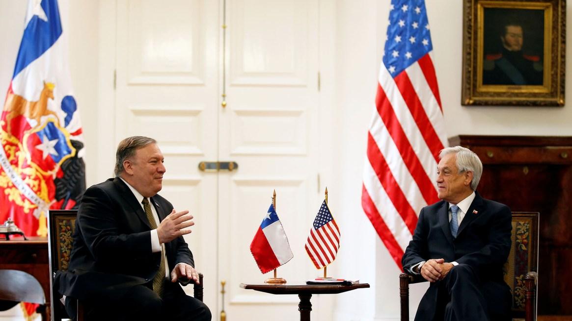 Pompeo y Piñera conversaron sobre la crisis en Venezuela (REUTERS/Rodrigo Garrido)