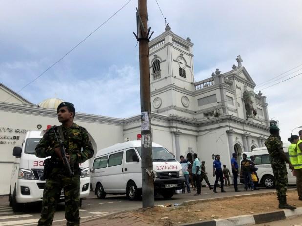En total se registraron ocho explosiones (REUTERS/Dinuka Liyanawatte)