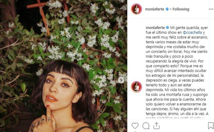 El mensaje de Mon Laferte en Instagram