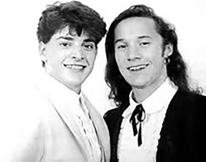 Pablo Rago y Diego Torres, protagonistas de la obra El Zorro, en 1991