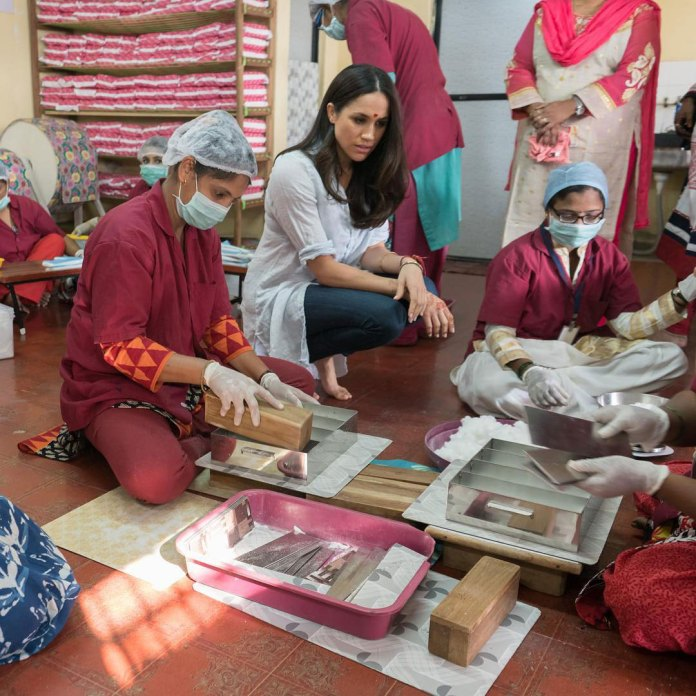 Las fotografías de Meghan Markle durante un viaje humanitario a India en enero de 2017
