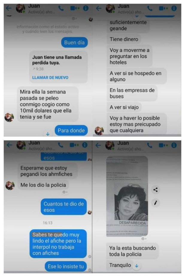 Conversación entre Alejandra Ojeda, hermana de la ex sargento chilena, y Juan Valderrama
