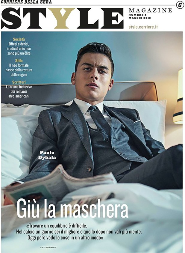 Paulo Dybala en la portada de la revista Style (@StyleMagazineIt)
