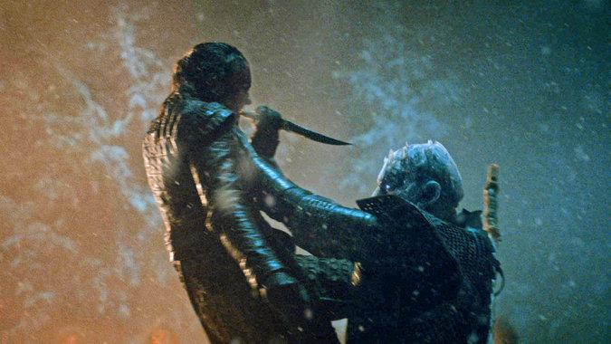 Arya Stark ataca al Rey de la Noche en una de las escenas más emotivas de la serie (HBO)
