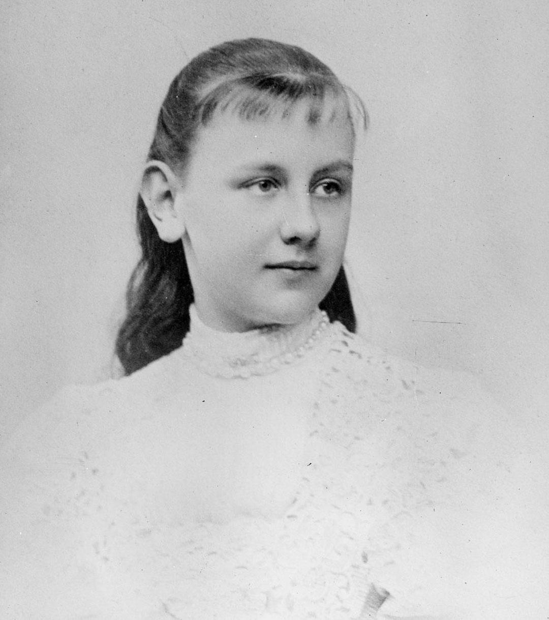La reina Guillermina en 1890