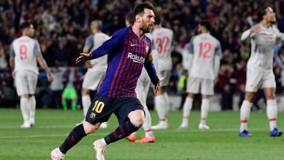 Messi fue la gran figura del Barcelona en el partido de ida ante Liverpool en el Camp Nou (JAVIER SORIANO / AFP)