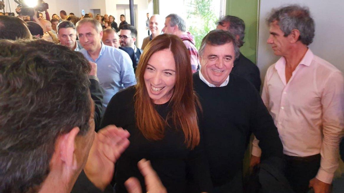 Mario Negri junto a María Eugenia Vidal, durante la campaña