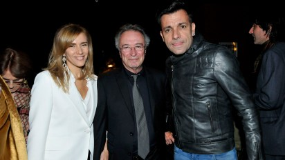 Marina Borensztein, Oscar Martínez y Martín Bossi