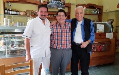 """Julio Fernández Froy con Alberto Corlmillot y Sergio Verón, de """"Cuestión de peso"""""""