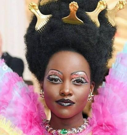 Make up extremo en el beauty look de Lupita.