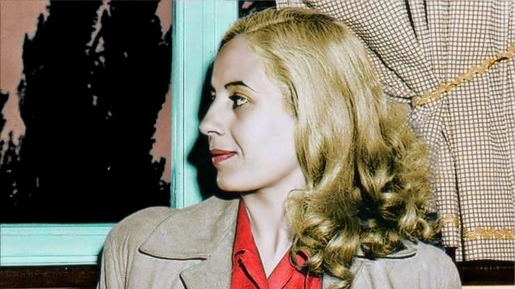 Eva Perón, a color