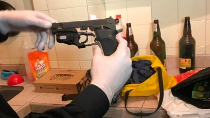 El arma homicida hallada en el departamento de Navarro Cádiz