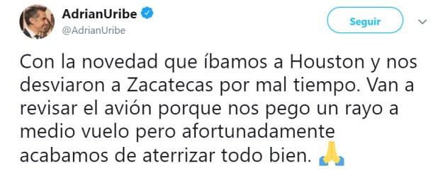 (Foto: Twitter/AdrianUribe)