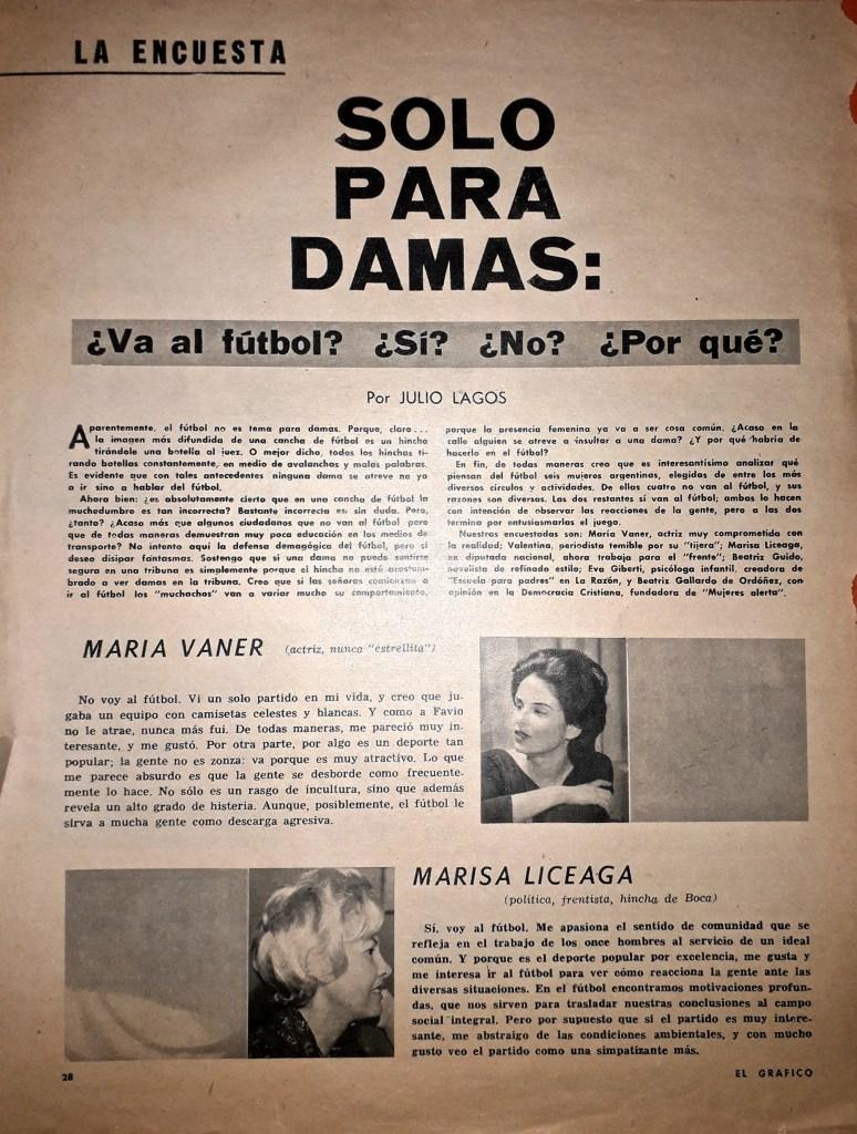 """Otro de los artículos de Julio Lagos en """"El Gráfico"""""""