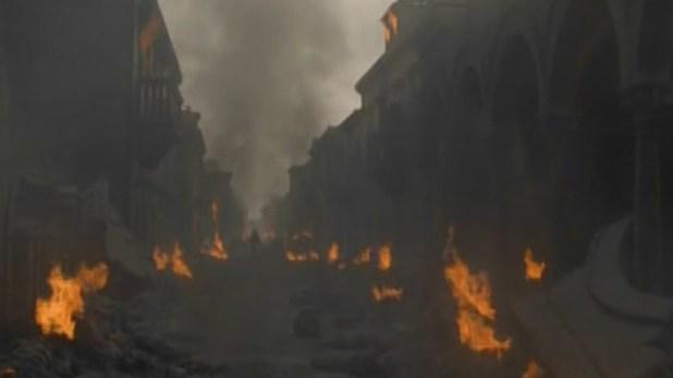 En la trama, la ciudad de Cersei cayó