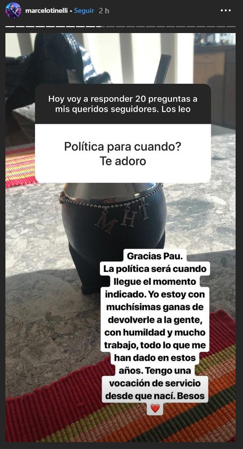 """""""Cuando llegue el momento indicado"""", respondió Marcelo Tinelli sobre su incursión en la política"""