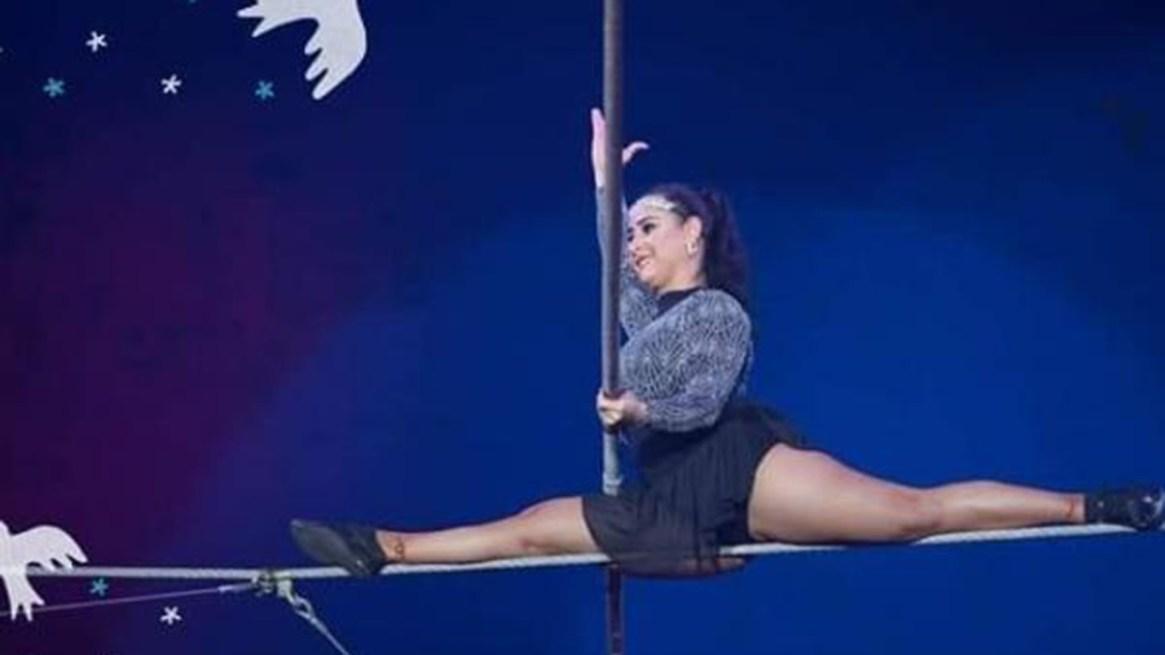 La joven realizaba una rutina llamada 'pirámide con 7' cuando resbaló de una cuerda. (Sabrina Roth)