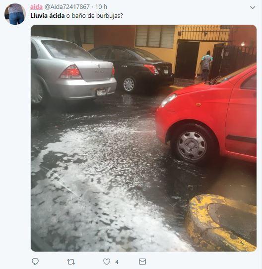 Usuarios en Twitter la calificaron con lluvia ácida (Foto: Twitter)
