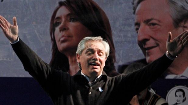 "Primer ""acto de campaña"" de la fórmula Fernández-Fernández (foto: Télam)"